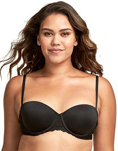 Maidenform Self Expressions Women's Convertible Push Up Bra with Lace Bra, Black, 36DD
