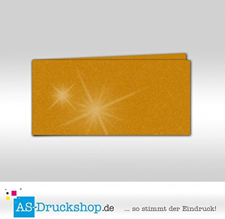 Faltkarte - Gold metallic 100 100 100 Stück DIN Lang quer B0794X7HJM | Helle Farben  616495