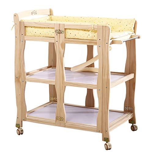 Massivholz Wickeltisch Neonatal Care Station Baby-Bad-Massage Tisch Sendet Kissen Pflegemassagetisch Mit Gutem Komfort