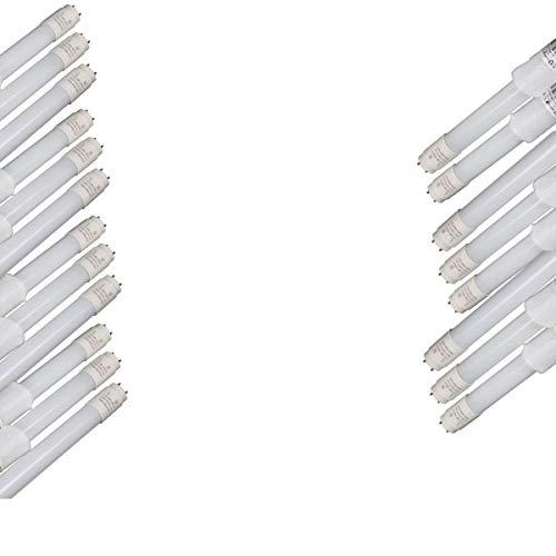 JANDEI - 20 x Tubo LED 18W 120 CM T8 220V Cristal Conexión 1 Lado Caja (6000K)