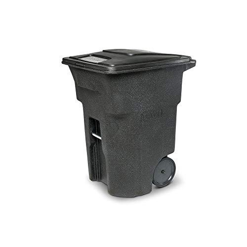 Toter 2-Wheel Trash Can with Lid - Blackstone, 96-Gallon, Model# ANA96-00BKS