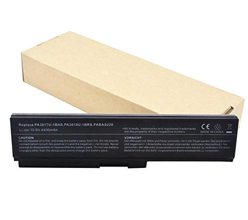 Batería Repuesto para Toshiba Pa3817u-1brs Pa3819u-1brs Satellite C600 L640 L650 L650d L655 L700 L745 L755d M640 M645 P745 P755 P775 Ordenador (6cell 4400mah)