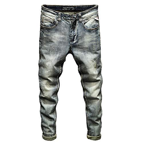 Vaqueros para Jeans Pantalones Pantalones Vaqueros Ajustados para Hombre Pantalones Vaqueros Elásticos De Primavera Y Otoño De Color Azul Claro Pantalones Vaqueros Casuales para Ho