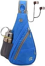 Peicees Sling Bag Chest Shoulder Bag Crossbody Waterproof Lightweight Nylon Hiking Backpack Cycling Travel Daypack for Men & Women