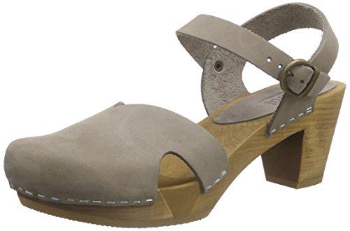 Sanita Damen Matrix Square Flex Geschlossene Sandalen, Grau (Grey 20), 40