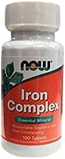 Now Foods Iron Complex, Vegetarian Tablets, 100ct