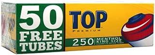 Top Menthol RYO Cigarette Tubes - King Size - 250ct Box (4 Boxes)