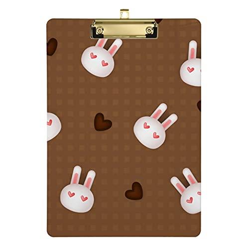 Appunti a forma di coniglio per bambini, uomini e donne e ragazze, design alla moda lettere in acrilico, dimensioni standard 31,8 x 22,9 cm (20307942)