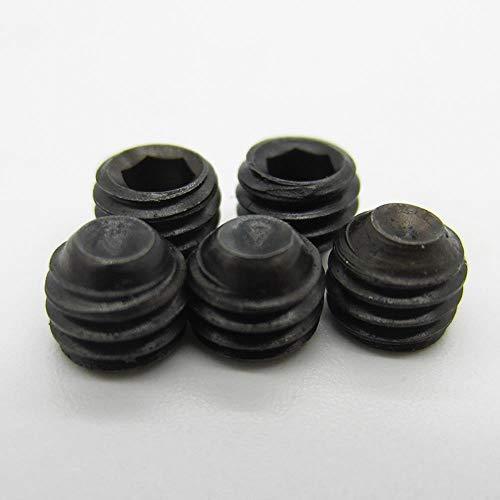 50 Uds DIN916 M2 M2.5 M3 M4 negro grado 12,9 hexagonal tornillo prisionero conjunto de puntos de copa tornillos prisioneros, 6 mm, M3