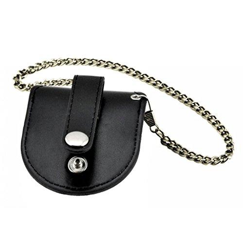 Tasche für Armbanduhren, Taschenformat, Vintage, Antik-Optik, Schwarz.