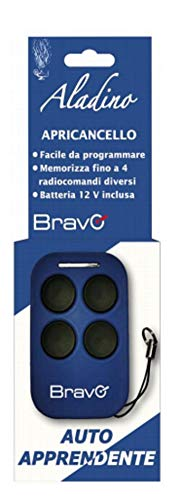 Bravo Aladino Telecomando Universale Radiocomando 433Mhz - Per Codice Fisso