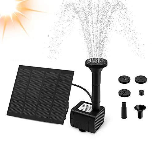Solar Springbrunnen, otumixx Solar Teichpumpe Garten Wasserpumpe Solar Fontäne Pumpe mit 1,2W Monokristalline Solar Panel Brunnen für Gartenteich Vogel-Bad Fisch-Behälter Kleiner Teich