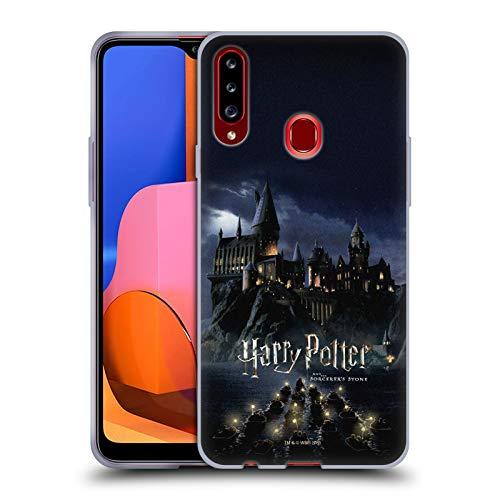 Head Case Designs Licenza Ufficiale Harry Potter Castello Sorcerer's Stone II Cover in Morbido Gel Compatibile con Samsung Galaxy A20s (2019)