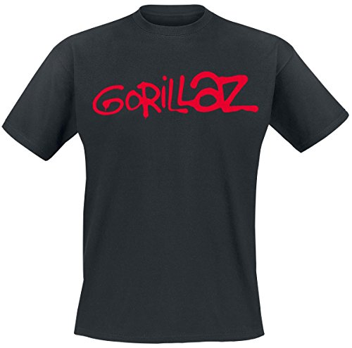 Gorillaz Logo T-Shirt schwarz XL