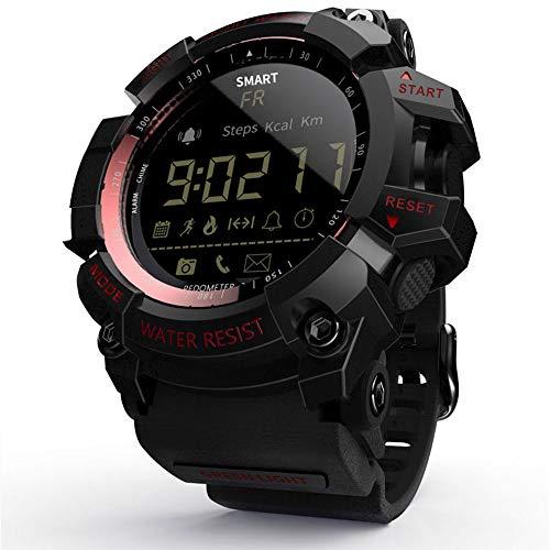 Leeofty Reloj Inteligente MK16 Reloj Militar Militar Resistente para Hombres y Mujeres Reloj de 12 Meses Duración de la batería IP67 / 5ATM Impermeable EL Luminous Sports BT Smartwatch Podómetro