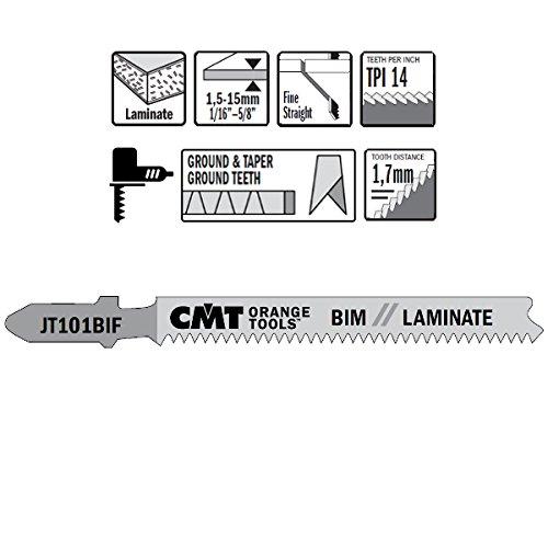 CMT : 5 lames sauteuse coupe droite mélaminé JT101BIF-5