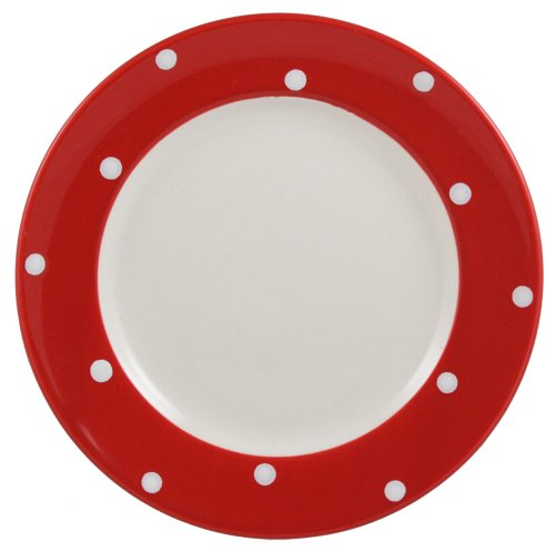 Spode Baking Days 8 Inch Salad Plate, Red