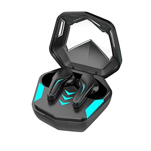 LVYIMAOJ Auriculares inalámbricos, pantalla de alimentación estéreo Bluetooth 5.1 con cancelación de ruido, control táctil TWS Mini auriculares intrauditivos