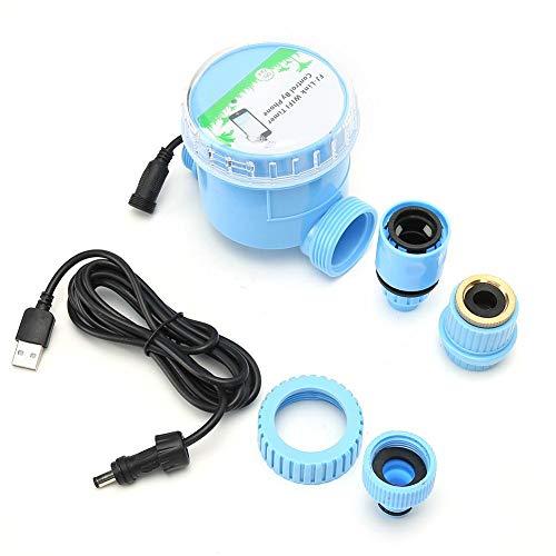 Jadpes Temporizador de riego de riego, Controlador de WiFi Programador de Agua programable, Controlador de Goteo automático con teléfono móvil Controlador de riego de Control WiF