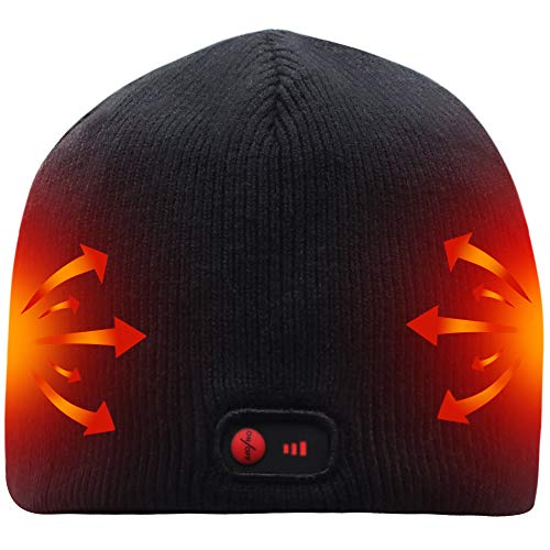 Svpro Battery Heated Beanie Hat Rechargeable Heated Hat Warm Winter Heated Cap