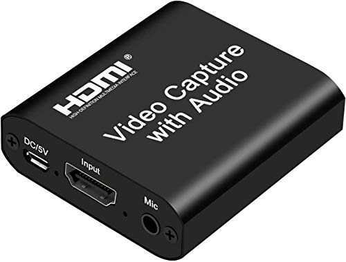 Scheda di acquisizione video, USB 2.0 4K HD 1080P 60FPS Scheda di acquisizione videogiochi HDMI per streaming live per PS3 / PS4 / Xbox One/DSLR/videocamere/action cam