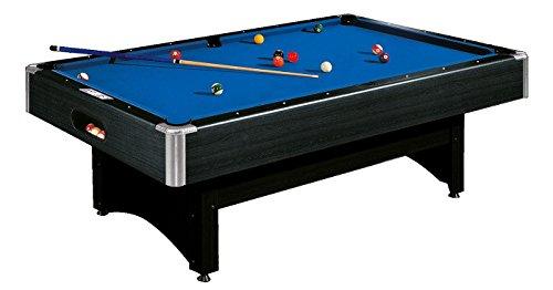 Automaten Hoffmann Pool-Billardtisch Galant | In 6 ft, 7 ft, 8 ft | Hochwertig, Robust & Edle Optik | Integriertes Punktzählwerk, Auto Ballrücklauf | Schwarz/Blau | Markenqualität 6 ft