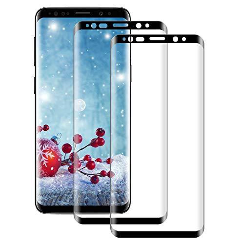 NUOCHENG Verre Trempé pour Samsung Galaxy S8 Plus/S8+,2 pièces [3D Couverture Complète] [Dureté 9H] [Anti Rayures][sans Bulles] Film Protection Vitre Protecteur D'écran pour Samsung Galaxy S8 Plus