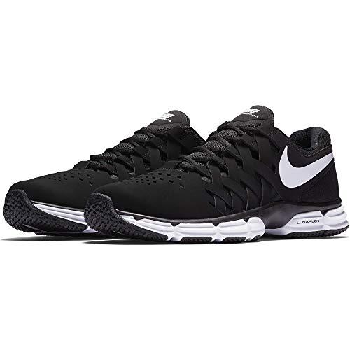 Nike Men's Lunar Fingertrap Trainer Cross, Black/White-Black, 13 Regular US