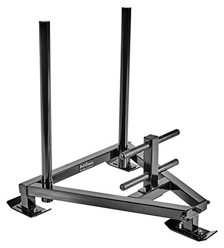 Bad Company Power Gym Sled inkl. Zug-Geschirr I Sprint und Gewichts-Schlitten für Ausdauer- und Schnelligkeitstraining I BCA-132