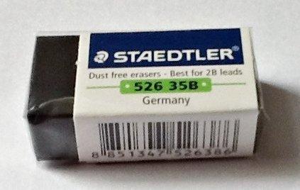 Staedtler Pencil Eraser, Best for 2B leads (Pack of 3)