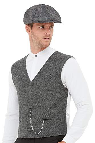 "Smiffys 20s Gangster Kit, color gris, M-Size 38""-40"" (50727M)"
