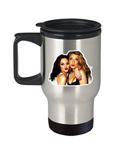 Blair and Serena Coffee Mug Cup (Travel) Gossip Girl Tv Show Merchandise Gifts Shirt Poster Sticker Pin Decal Artwork Decor Accessories