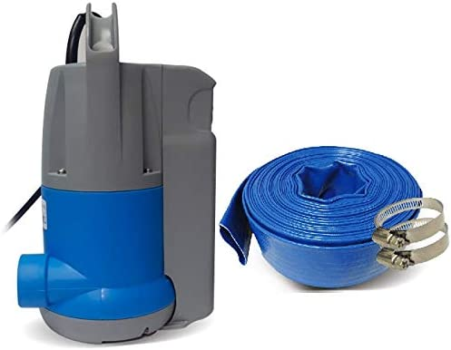 discount Schraiberpump Sump Pump for Clean Water 0.5hp wholesale w/built in Automatic ON/OFF (no external float switch needed) 1800GPH, 26'Head, Thermal Protector sale INCLUDES 25ft OF PVC LAY FLAT HOSE online