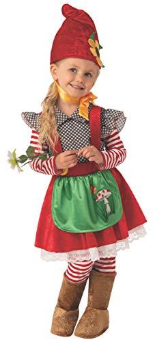 Bristol Novelty Disfraz de niña de gnomo de jardín de tamaño Infantil Medium (5-6 Years)