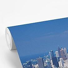 Fotobehang vinyl Atlanta - Fotobehang Atlanta - Het stadion Turner Field vanuit de lucht bij Atlanta in de Verenigde State...