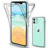 Gnews Coque Compatible avec iPhone 11 6.1 2019 Etui, iPhone 11 Coque Transparent Silicone TPU Case Intégral 360 Degres Full Body...