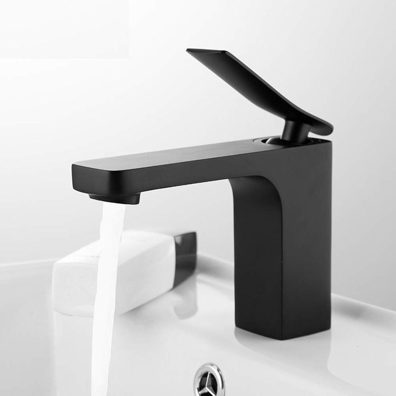 ROKTONG Bathroom Faucet Basin Mixer Faucets Chrome Sink Tap Vanity Hot Cold Water mixer Faucet black Painting Tap Faucet