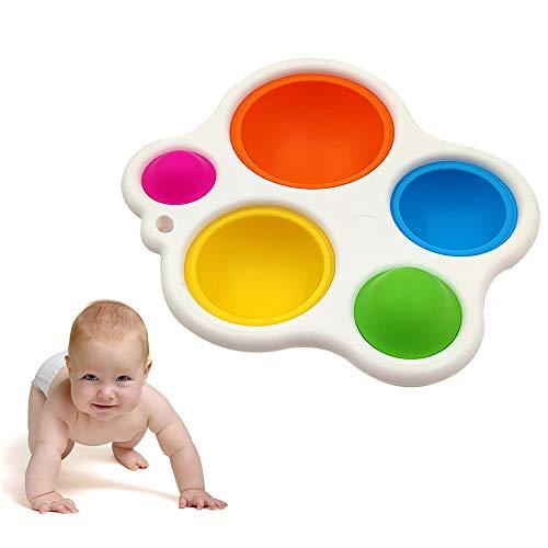Kajiali Juguetes sensoriales Simples para bebés, adecuados para bebés de 6 Meses en adelante Juguetes y Regalos con hoyuelos, Juguetes de Agarre con Tablero de Silicona Juguete Educativo temprano