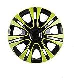 ERYUEL Radverkleidung HUBCAP 14-Zoll-Auto-Eisen-Radkappen-Hub-Hub-Kappe Auto-Refit-Zubehör (2 Stück) Auto-Radkappen (Color : Green)