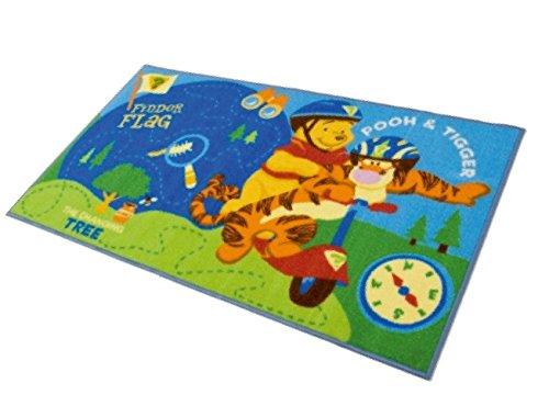 M.Service S.r.l. Alfombra Disney Action Line Winnie The Pooh y Tigger – Tamaño 80 x 140 cm – Ideal para niños.