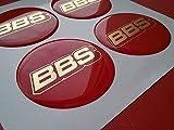 BBS 4 Stück 55mm Aufkleber Emblem für Felgen Nabendeckel Radkappen