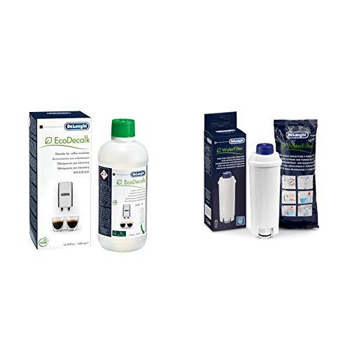De'Longhi DLSC002 Filtro Addolcitore Ecam & ECODECALK Decalcificante Naturale, 500 ml