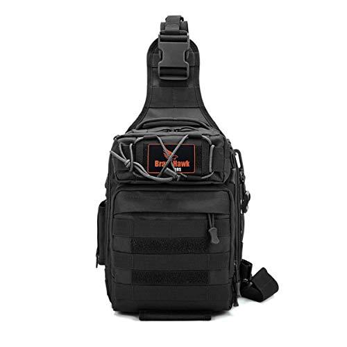 BraveHawk OUTDOORS Multi-purpose Sling Bag, 800D Military Nylon Oxford Tactical Crossbody Shoulder Pack for Hiking