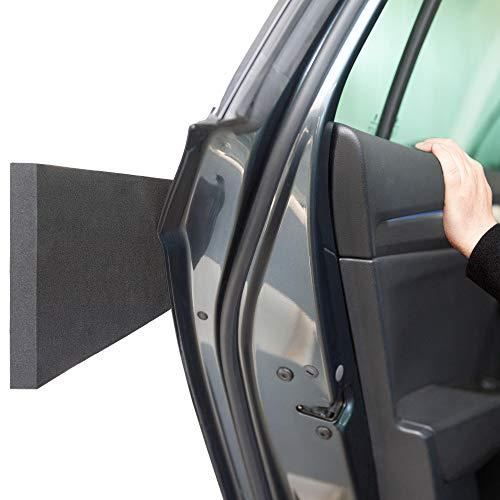 ECENCE 4X Türkantenschutz Auto Garagenwand - 40 x 12 x 1,5 Türkantenschoner Autotür Garage - Garagen Wandschutz - Schutz für PKW, KFZ und LKW - selbstklebend Schwarz 81040406