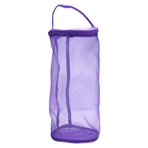 Mesh Bag Leichte Tragbare Garn Wolle Tasche Stricken Häkeln Faden Speicherorganisator Tote, 12,2 * 5,3 Zoll / 5,1 * 5,1 Zoll(#02)