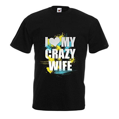 Camisetas Hombre Amo a mi Esposa Loca: Las Mejores Ideas de Regalos románticos para Ella (X-Large Negro Multicolor)