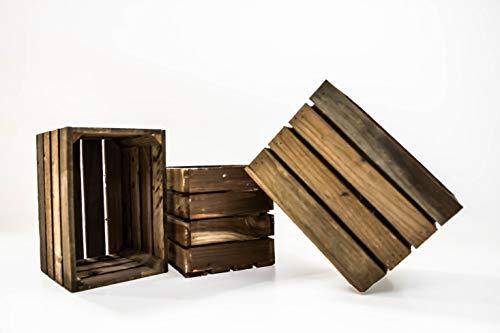 Set de 3 Cajas de Fruta Sam, Cajas de Fruta, Madera, Marrón, 30x20x20cm, 3 Unidades. Incluye Imán de Regalo Personalizable. …