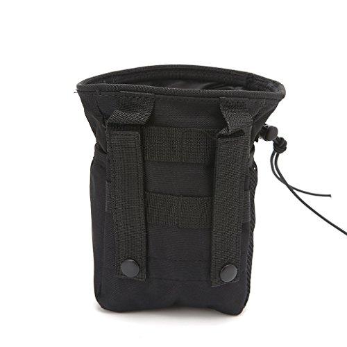 Jiamins Outdoor Utility Pouch Tasche Airsoft Militär Molle Gürtel Taktische Dump Drop Tasche (Schwarz)