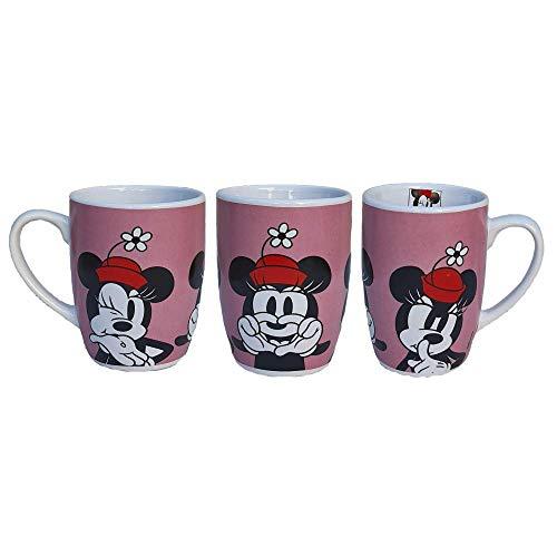 CARTOON GROUP Taza Mug Minnie Mouse Disney cerámica cónica 340 ml con paquete – WD21446/2