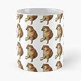 Its Funny Cheemsburger Cheems Ranger Arizona Dog Wait Meme All Western Burguer Spaghetti Best 11 Ounce Ceramic Coffee Mug
